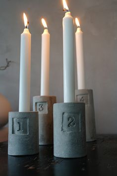 Advent candleholders