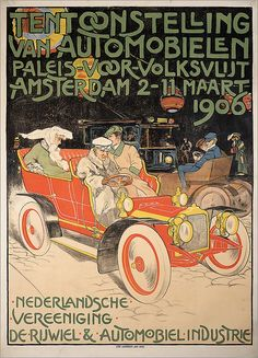 Affiche Auto Rai 1906