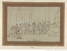 Mariage de Napoléon et de Joséphine, la veille du sacre : [dessin]