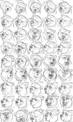 Brother Bear - Kenai_expression sheet by Aaron Blaise
