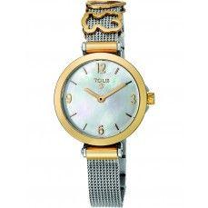 9318bf2ad577 Reloj Icon Charms de acero IP dorado con nácar Caja De Acero Inoxidable