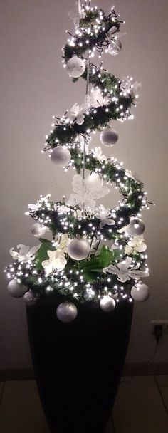 "Pretty White Christmas ""Tree"" Project"