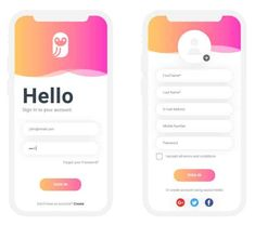 UI Login Signup Screen – Design is art Mobile App Design, Mobile Login, App Login, Android App Design, Mobile Application Design, Android Ui, Login Page Design, App Ui Design, Interface Design