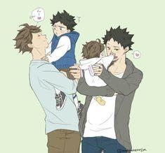 Iwaoi family so cute :3