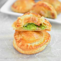 Avocado, Goat Cheese and Sausage Puff Pastry Pockets.  I can use turkey instead of sausage