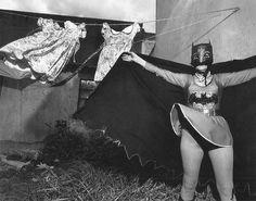 Mary Ellen Mark  Marina Campa as Batman's Grandmother, Kimberly Crown Circus, Mexico City, Mexico, 1997