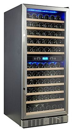 Kalamera 117 Bottle Compressor Wine Cooler Dual Zone with Touch Control *** Click on the image for additional details.