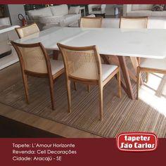 Nosso L'Amour Horizonte embelezando a mesa de jantar da Celi Decorações - R. Delmiro Gouvêia, 2990. #Decor #TapetesSaoCarlos