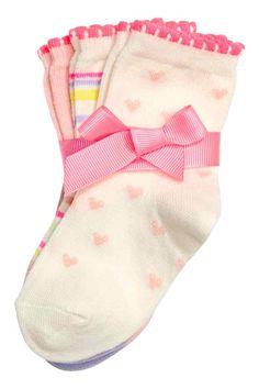 3-pack socks - Light pink - Kids | H&M GB 1