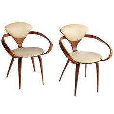1950s Pretzel Chairs by Norman Cherner