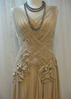 Gorgeous Unique Crisscross Pleated Dress by Madabby on Etsy, $278.00 bridesmaids ideas.