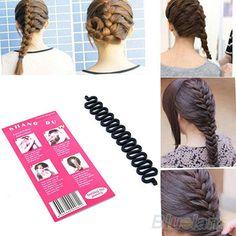 Thời trang tóc bện Braider Tool lăn với Magic Twist tóc Styling Bun maker 1EW1