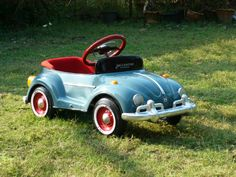 VW Bug Pedal Car Classic Blue NEW COLLECTION for Kids and Collection