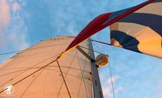 Sails catching the wind. #SailingIsHeaven