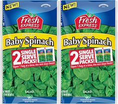 Check out Singles Baby Spinach http://www.FreshExpress.com/product/flavorful-spinach/singles-baby-spinach.aspx