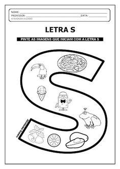 Finalização do alfabeto com desenhos - Atividades Pedagógicas Suzano Jolly Phonics Activities, Preschool Learning Activities, Alphabet Activities, Spanish Alphabet, Handmade Crafts, Photo Book, Lesson Plans, Coloring Pages, How To Plan