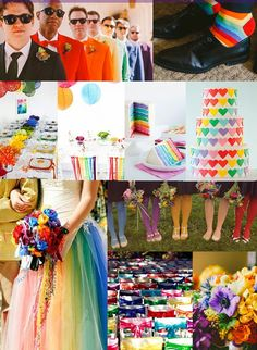 Rainbow+wedding+theme+idea.jpg (622×850)