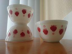 Strawberry Pyrex Mixing Bowls