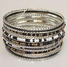 bracelets on top of bracelets