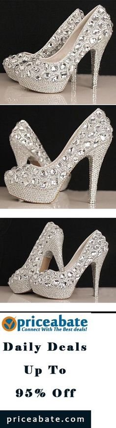 #priceabatedeals Pure Gorgeous Diamonds WeddingEvening Party Queen shoes High Heels - Buy This Item Now For Only: $33.16