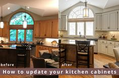 When it comes to updating your kitchen cabinets, the options can be overwhelming. Check out our website to learn more about refinishing your existing cabinets, or doing a full replacement! Replacing Cabinets, Refinishing Cabinets, Old Kitchen, Cabinet, Kitchen, Old Kitchen Cabinets, Replacing Kitchen Cabinets, Kitchen Layout, Kitchen Transformation