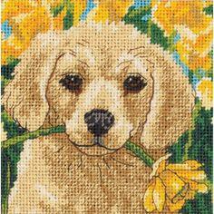 Puppy Mischief Stitchery Kit - Cross Stitch