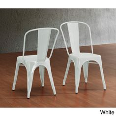 Tabouret Bistro Steel Side Chairs (Set of 2) - Overstock™ Shopping - Great Deals on Dining Chairs