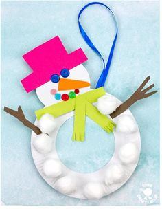 Treble Crochet Stitch, Basic Crochet Stitches, Crochet Basics, Easy Crochet, Crochet Hooks, Snowman Crafts, Xmas Crafts, Crafts For Kids, Preschool Games