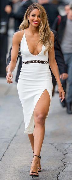 Ciara in David Koma outside 'Jimmy Kimmel Live' in L.A. #bestdressed