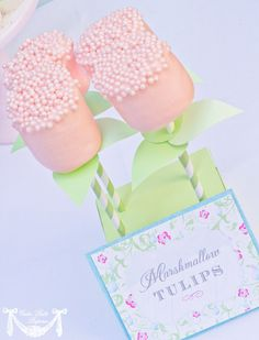 Spring Party Craft marshmallow flowers!