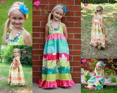 New pdf pattern from Create Kids Couture, Piper's stripwork maxi dress!