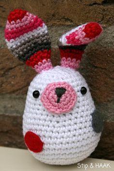 Little hare amigurumi: system szydełkowy Crochet Amigurumi, Crochet Bunny, Amigurumi Patterns, Crochet Animals, Crochet Dolls, Knit Crochet, Easter Crochet Patterns, Crochet Crafts, Yarn Crafts