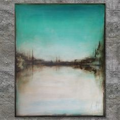 """WATERSIDE"", Acrylbild, abstrakt (L1792)"