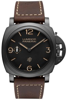 Movement:Hand-wound mechanical, Panerai P.3000 calibre, executed entirely by Panerai, 16½ lignes, 5.3 mm thick, 21 jewels, Glucydur® balance, 21,600 alternations/hour. Incabloc® anti-shock device. Power reserve 3 days, two barrels. 160 components.