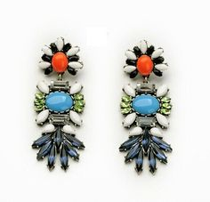 Multi Feather Drops Earrings Only $28 at The Pink Pineapple!  pinkpineappleshop.com