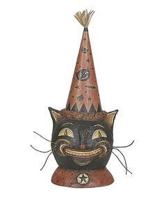 The time of tricks and treats deserves décor to match. This addition brings the spirit of the spooky season to any surface, turning homes into Halloween houses (though hopefully free of hauntings).4'' W x 11'' HPapier-mâché / strawImported