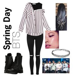 """Spring Day- BTS"" by gaby-pala on Polyvore featuring Topshop, Capezio and Forever 21"