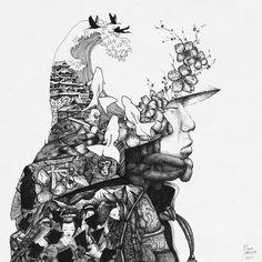 Unique drawings by Slava Triptih