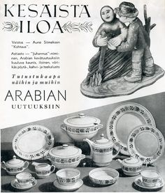 #Arabia #Posliini #Porcelain #Astiasto #Tableware #Veistos #Sculpture Porcelain, Sculpture, Tableware, Movies, Movie Posters, Vintage, Art, Art Background, Porcelain Ceramics