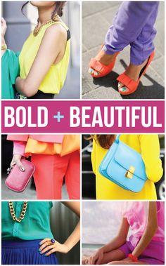 Bold & Beautiful summer wardrobe inspiration