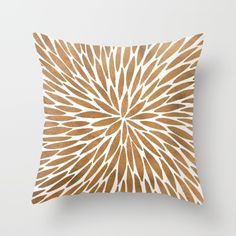 Buy Rose Gold Burst Throw Pillow by Cat Coquillette. Worldwide shipping available at Society6.com. Just one of millions of high quality products available.