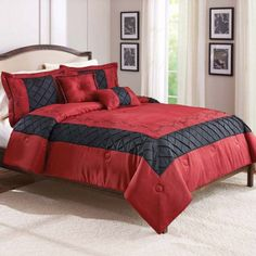 Better Homes and Gardens Ruby 5-Piece Comforter Set, Multicolor