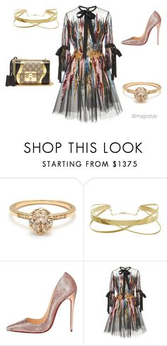 """""""Untitled #54"""" by nerdygets on Polyvore featuring Christian Louboutin, Elie Saab and Gucci"""