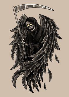 #angel #of #death #grimreaper #art #drawing #tattoo #design