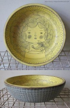wooden doodle bowl (SOLD) | Explore Flora Chang | Happy Dood… | Flickr - Photo Sharing!