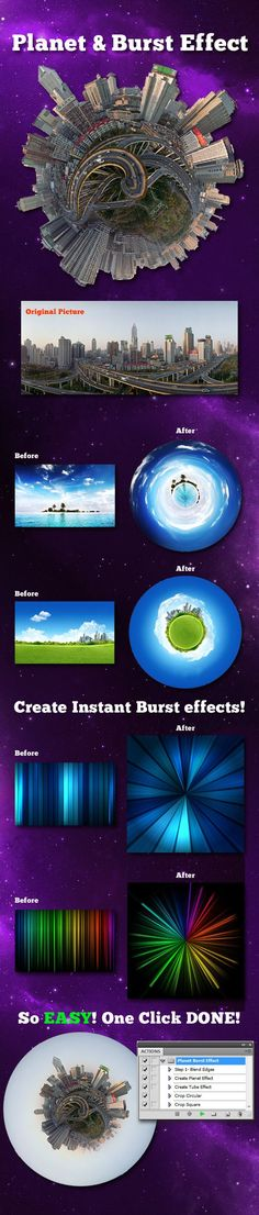 Planet and Burst Effect — Photoshop ATN Effects Photoshop, Best Photoshop Actions, Photoshop Tips, Photoshop Design, Photoshop Tutorial, Photography Projects, Photography Tips, Landscape Photography, Globe Image