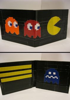 Duct Tape Pacman wallet by Shay Lynam