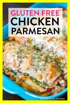 Gluten Free Chicken Parmesan - chicken parm is one of my favorites and I love this healthy spin on a class dinner. Not only is it clean eating but it's also ketogenic and makes a delicious keto diet recipe (without the noodles). Chicken Recipes Video, Chicken Parmesan Recipes, Gluten Free Chicken, Healthy Chicken Recipes, Parmesan Pasta, Recipe Chicken, Gluten Free Recipes For Dinner, Healthy Dinner Recipes, Healthy Snacks
