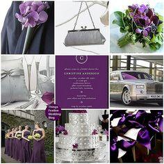Things Festive Weddings & Events: Fall Wedding Inspiration Board - Amethyst & Platinum - boutennierre