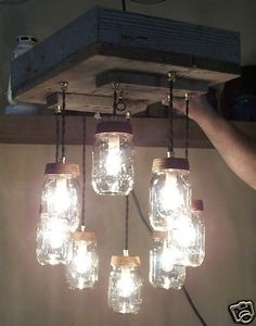 barnwood decorating ideas | Mason Jar Decor & Craft Ideas / Mason Jar…